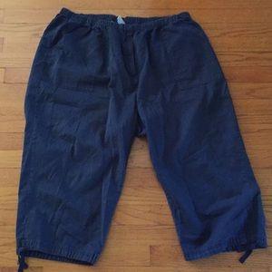 Navy Blue Capri Pants
